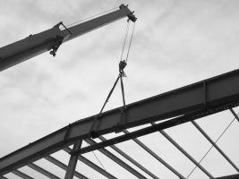 crane and steel